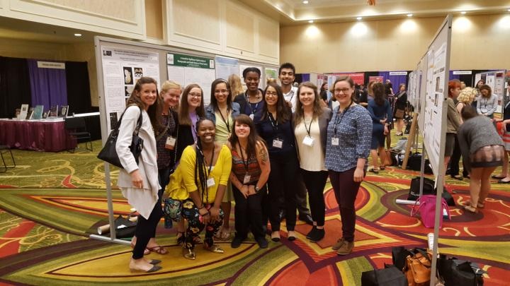 The 2016 undergraduate REU students reunite to present their research at the 2017 annual meeting of the American Association of Physical Anthropologists in New Orleans.